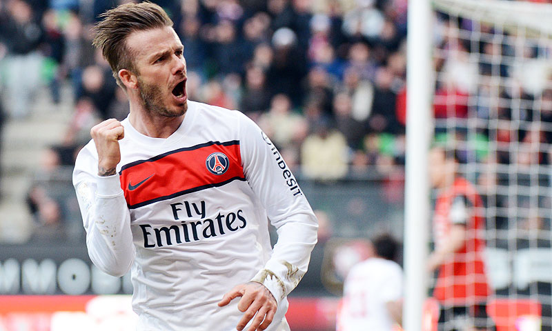 Beckham has played for Manchester United, Real Madrid, Los Angeles Galaxy and AC Milan among other clubs. -Photo by AFP