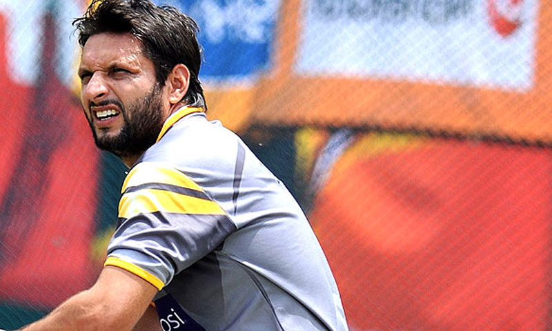 Afridi was overlooked for the ICC Champions Trophy. -File photo