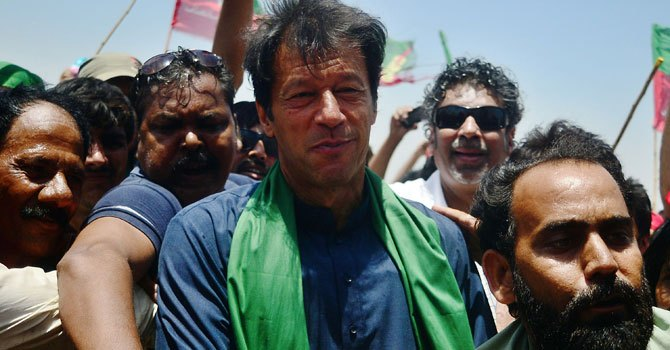 Chairman of Pakistan Tehrik-e-Insaf (PTI) Imran Khan.—File Photo