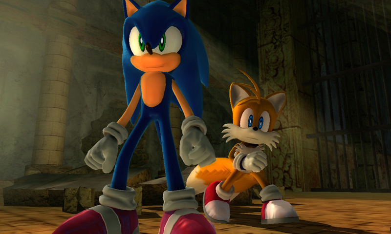 "This undated publicity image released by courtesy of game publisher Sega, shows Sonic, left, and sidekick, Tails, in the 2006 video game ""Sonic the Hedgehog,"". — AP Photo"
