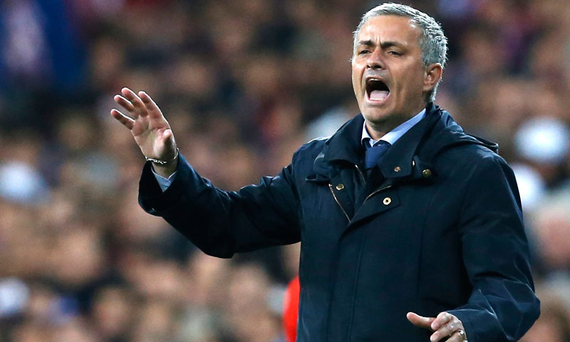 Mourinho defended his record since joining Real from Inter Milan in 2010, noting Real had beaten Barcelona. -Photo by Reuters