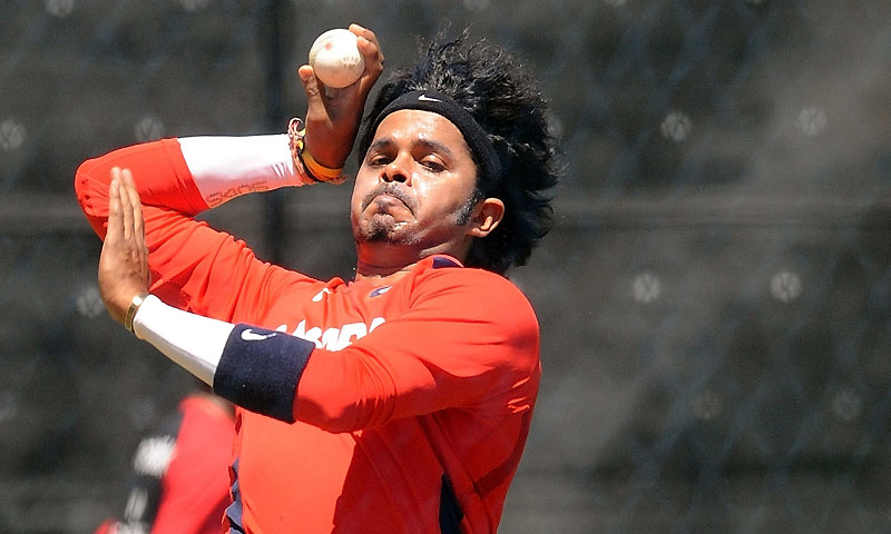 Shantakumaran Sreesanth. -Photo by AFP