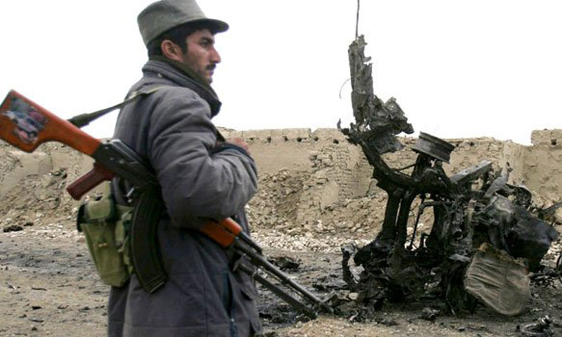 An Afghan official says a powerful roadside bomb has killed six policemen in the country's west.—File Photo