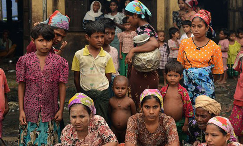 Myanmar Muslims pictured in this photo.—File Photo