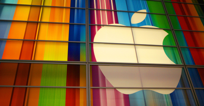 The Apple logo is seen in this September 11, 2012 file photo at the Yerba Buena Center for Arts in San Francisco. — AFP File Photo