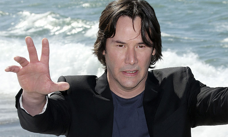 Actor Keanu Reeves poses for photographers during a photo call for the film Man of Tai Chi at the 66th international film festival, in Cannes, southern France.–Photo by AP