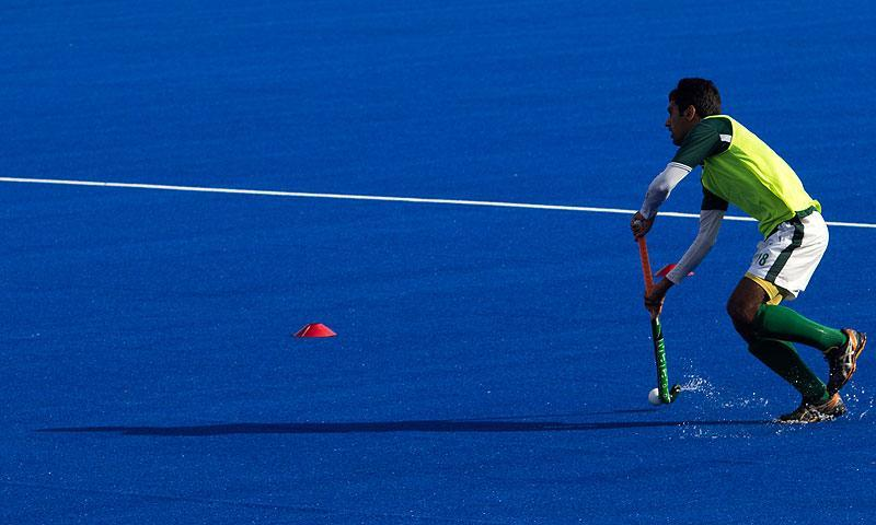 During Akhtar Rasool's tenure, Pakistan bagged a bronze medal in the last Champions Trophy and gold medal in the Asian Champions Trophy last year. -Photo by Sara Faruqi/Dawn.com