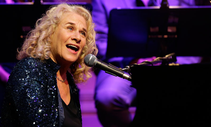 Singer-songwriter Carole King, performs during an event to honour her with the Gershwin Prize for Popular Song, at the Library of Congress. —AP Photo