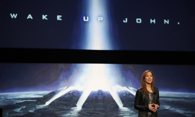 Bonnie Ross, studio head of 343 Industries. speaks about the Halo television series featured on Xbox One. — Reuters Photo