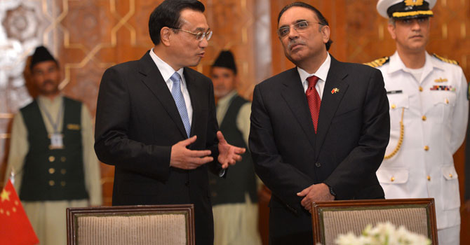 It was an interesting luncheon ceremony to observe, hosted by President Zardari in honour of visiting Chinese Prime Minister Li Keqiang.