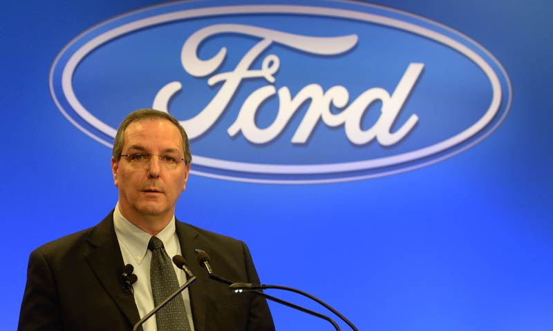President and CEO of Ford Australia Bob Graziano announces Ford will stop local manufacturing in October 2016, in Melbourne on May 23, 2013. - AFP Photo