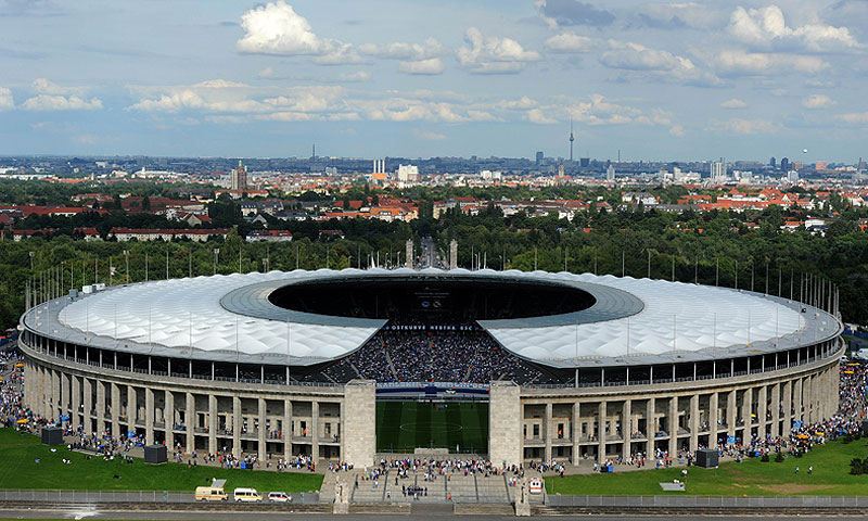 Built by Adolf Hitler's Nazi government for the 1936 Olympic Summer Games, the Berlin stadium has a capacity of 74,064. -Photo by AFP