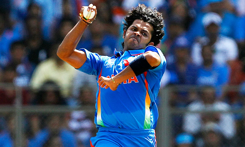 India's main suspect in the recent IPL spot-fixing scam, fast bowler Shantakumaran Sreesanth.—File Photo