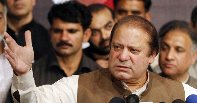 PML-N chief Nawaz Sharif. — Photo by AFP