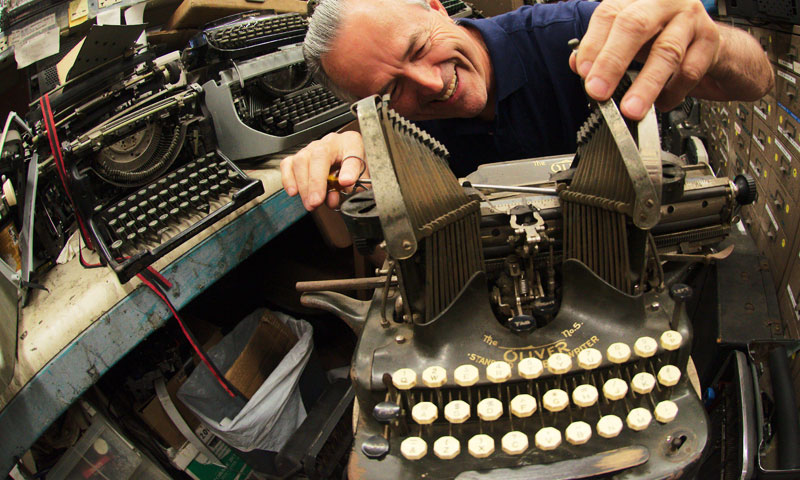 In his workshop, the 68 year old Italian, who has resided in Los Angeles since 1969, restored typewriters belonging to Ian Fleming, Tennessee Williams, Ray Bradbury, Ernest Hemingway, Orson Welles and John Lennon. —AFP Photo