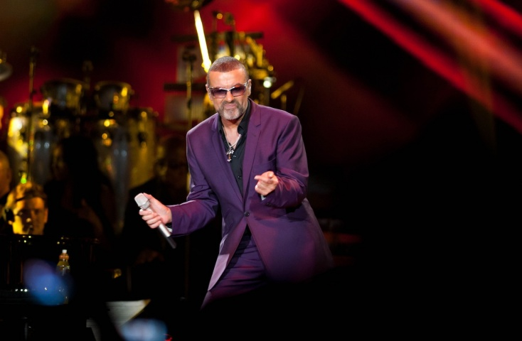 George Michael during his Symphonica, The Orchestral Tour at the LG Arena, Birmingham, central England, last September. —AP (File) Photo