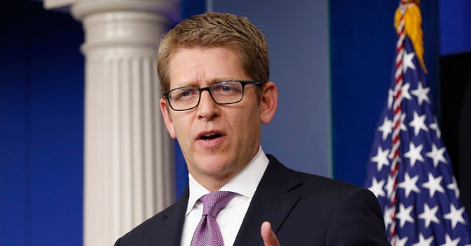 White House Press Secretary Jay Carney speaks to reporters in the briefing room of the White House in Washington.—Photo by Reuters