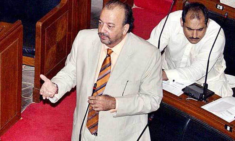 New Sindh Assembly Speaker Agha Siraj Durrani. — File Photo.