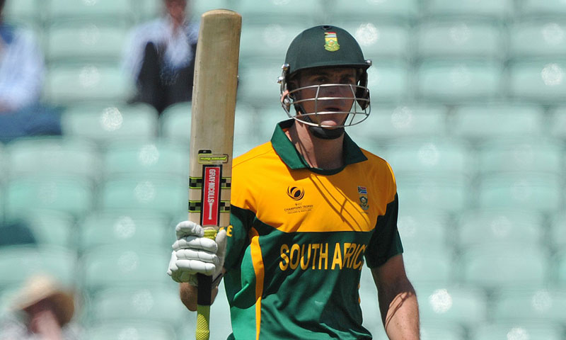 South Africa's Ryan Mclaren acknowledges his half century — AFP Photo