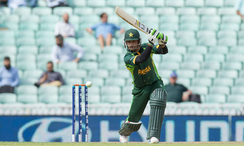 Pakistan's Mohammad Hafeez hits a shot — AP Photo