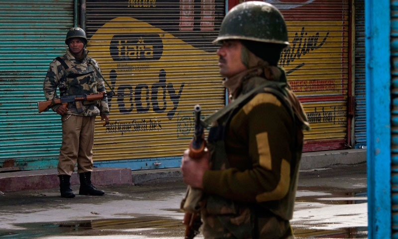 India maintains deployment of an estimated 700,000 soldiers in the Kashmir territory.—AP/File Photo