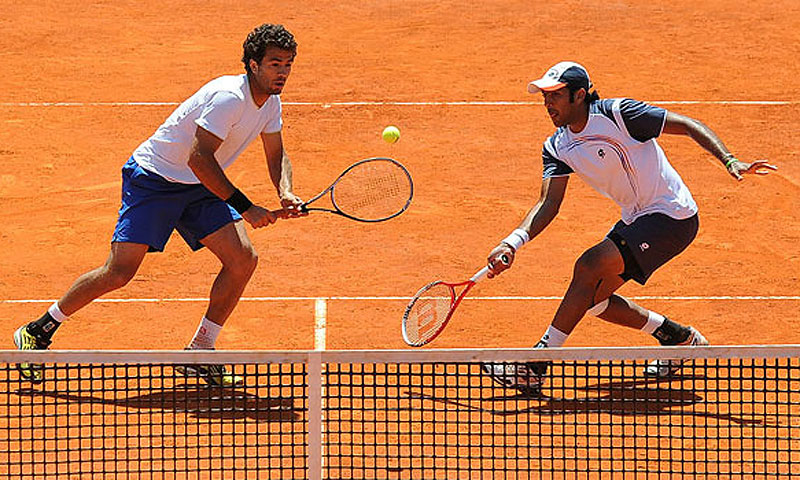 Aisam-ul-Haq Qureshi and JJ Rojer. -File photo