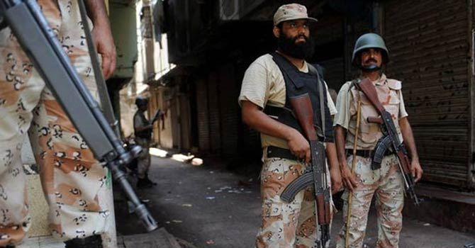Earlier on Tuesday, Rangers signalled Ghulam Haider to stop his car but he did not, over which the officials opened fire at him in Karachi's Shah Faisal Colony. – File Photo