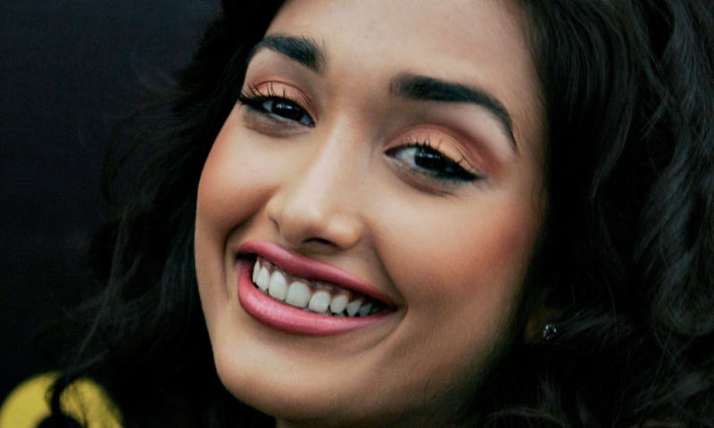 In this Dec. 19, 2008 file photo, Bollywood actress Jiah Khan smiles during a promotional event of her forthcoming Hindi movie 'Ghajini' in Bangalore, India.— AP Photo