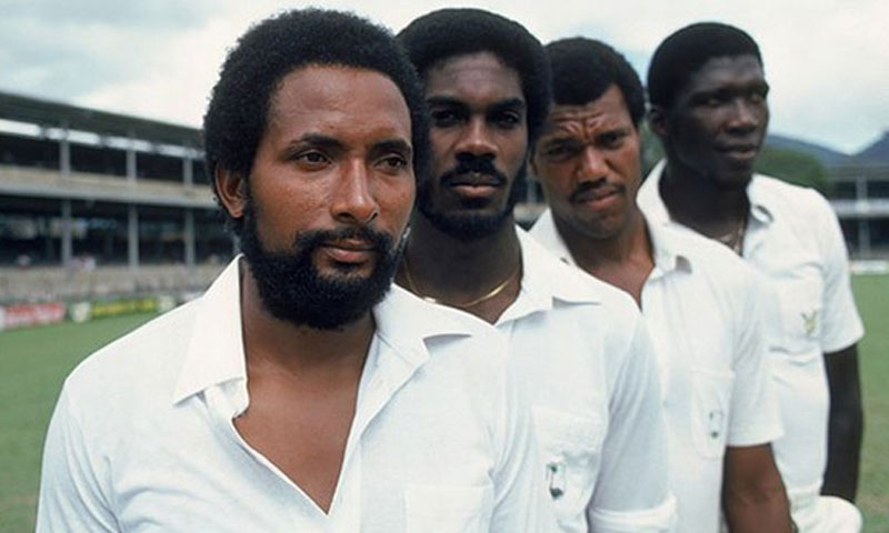 Andy Roberts, Michael Holding, Colin Croft, and Joel Garner. — File Photo