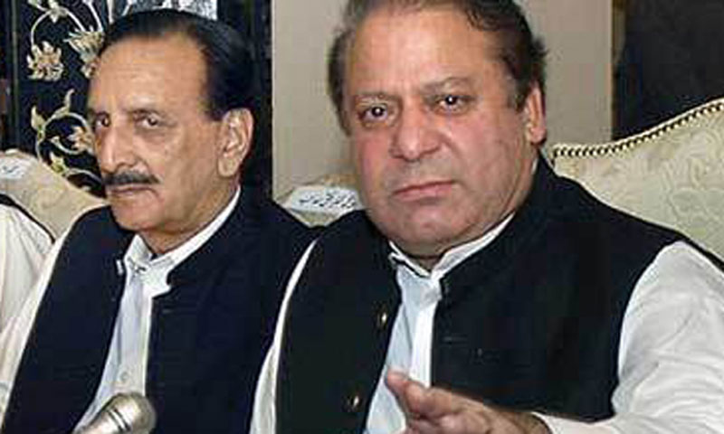 Prime Minister Nawaz Sharif (R) and PML-N leader Raja Zafarul Haq can be seen in this picture.—File Photo