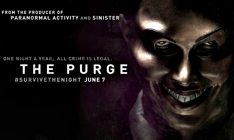 """The Purge"" movie poster. — Courtesy Photo"