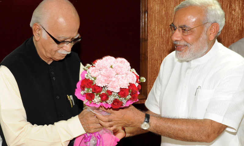 Advani, 85, who mentored Modi and defended him against criticism that he failed to stop deadly anti-Muslim riots in 2002, is now opposed to the 62-year-old Modi's rise.—AFP Photo