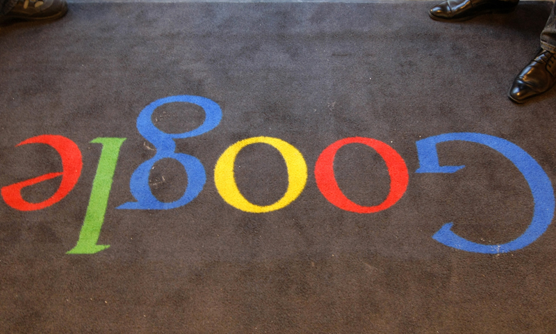 In this Dec.6, 2011 file photo, the Google logo is seen on the carpet at Google France offices before its inauguration, in Paris. — AP (File Photo)