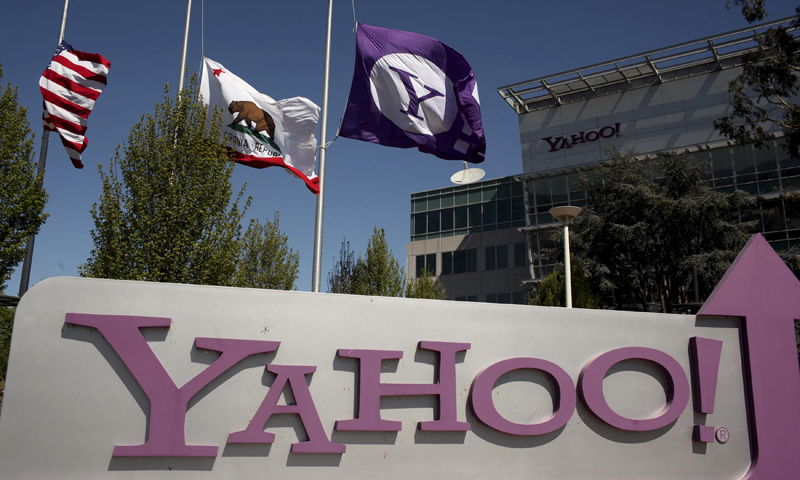 The Yahoo logo is shown at the company's headquarters in Sunnyvale, California. — Reuters Photo