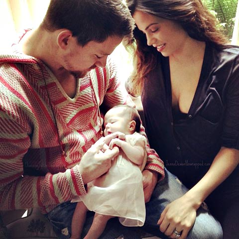 Channing Tatum with wife Jenna and daughter Everly. — Courtesy Photo