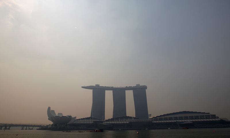 The Marina Bay Sands casino and resort is pictured on a hazy day in Singapore June 18, 2013. — Reuters Photo