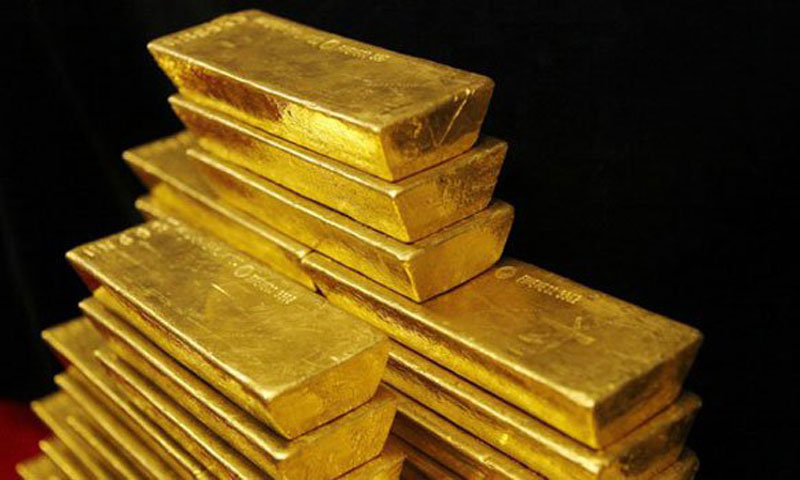 On the London Bullion Market, the price of gold tumbled as low as $1,286.20 an ounce -- the precious metal striking a point last seen in September 2010. - File photo