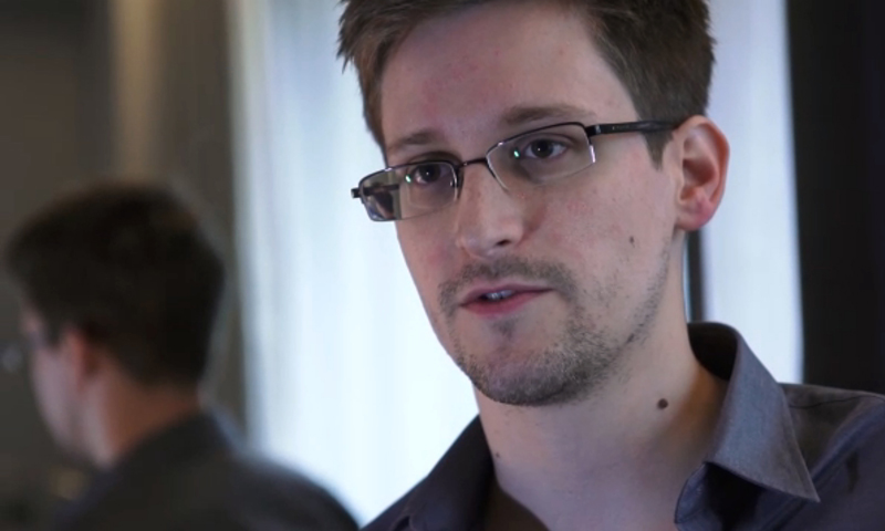 (FILES) This still frame grab recorded on June 6, 2013 and released to AFP on June 10, 2013 shows Edward Snowden, who has been working at the National Security Agency for the past four years, speaking during an interview with The Guardian newspaper at an undisclosed location in Hong Kong. Former US intelligence technician Edward Snowden is en route from Hong Kong to Moscow heading to a third destination, the South China Morning Post reported on June 23, 2013.  — Photo by AFP