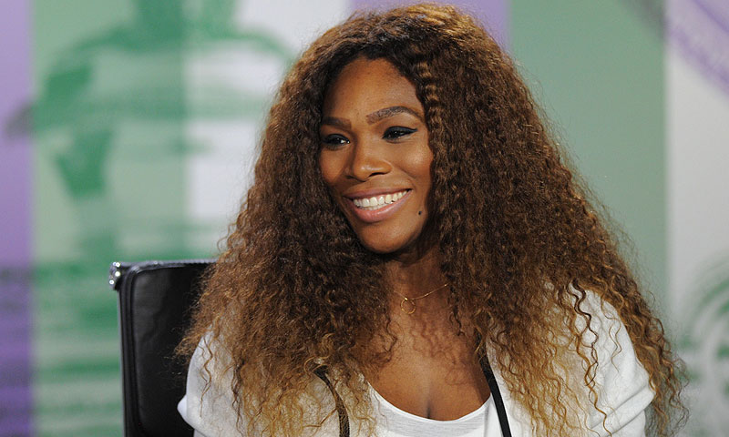 US player Serena Williams attends a press conference at the All England Tennis Club in Wimbledon. -Photo by AFP