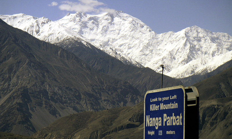 Nanga Parbat, the ninth highest mountain in the world, is seen from Karakorum Highway.    — Photo by Reuters