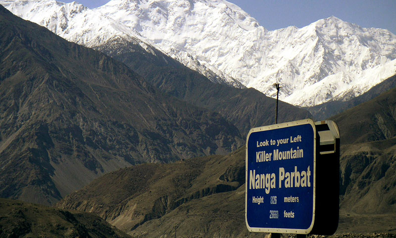 In this May 4, 2004 file photo, Nanga Parbat, the ninth highest mountain in the world, is seen from Karakorum Highway leading to neighbouring China in Pakistan's northern area. - Photo by AP