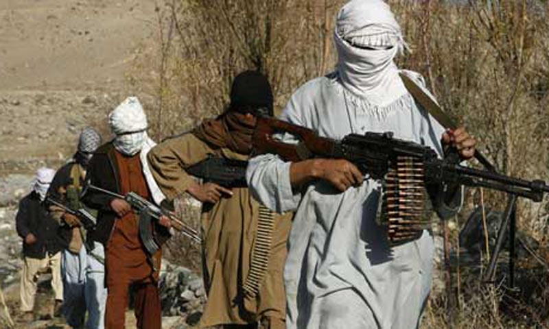 Taliban fighters pose with weapons in an undisclosed location in Nangarhar province in this December 13, 2010 picture.  — Photo by Reuters