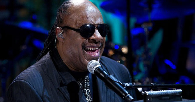 "Stevie Wonder performed during the ""In Performance at the White House"" in Washington last May. — AP (File) Photo"