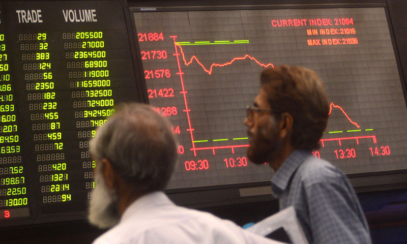 Stockbrokers at the Karachi Stock Exchange.—AFP/File Photo