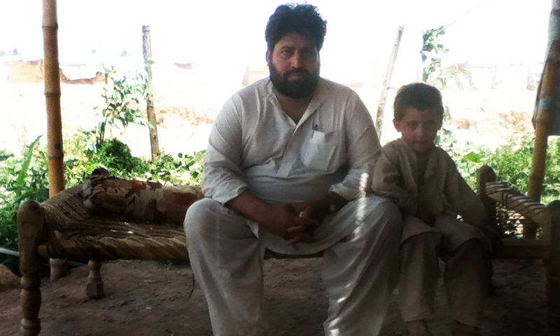 Asmatullah Khan along with his six year son Rohullah Khan.  — Photos provided by author.