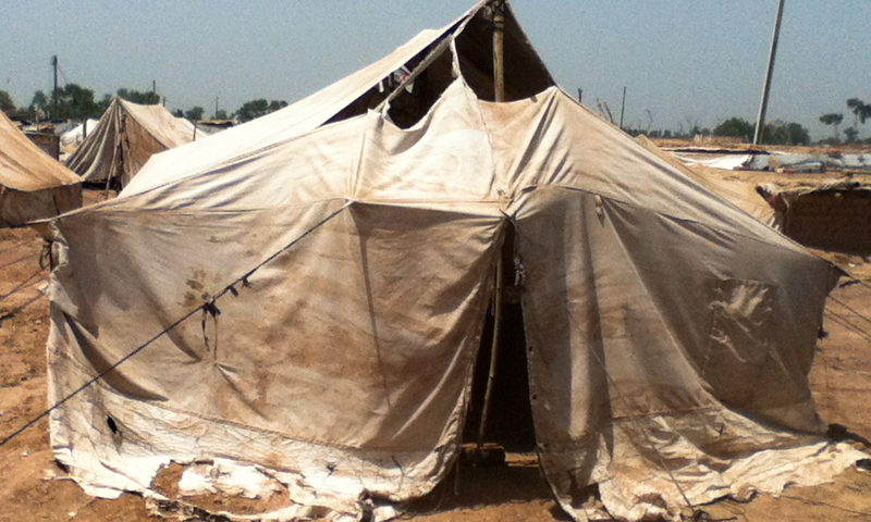 A tent house in Jalozai camp.  — Photos provided by author.