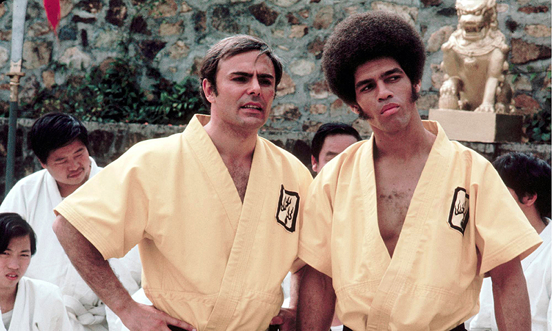 "This 1973 photo released by Warner Bros. Entertainment shows John Saxon as Roper, left, and Jim Kelly as Williams in a scene from ""Enter the Dragon.""—Photo by AP"