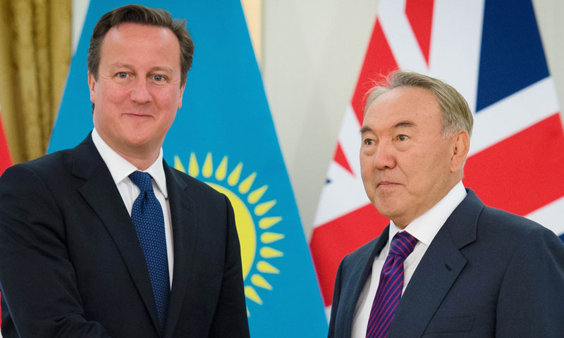 Cameron and Kazakh President Nursultan Nazarbayev also unveiled an oil and gas processing plant on the shores of the Caspian Sea that is meant to provide a new reliable source of energy for European countries.—AFP Photo