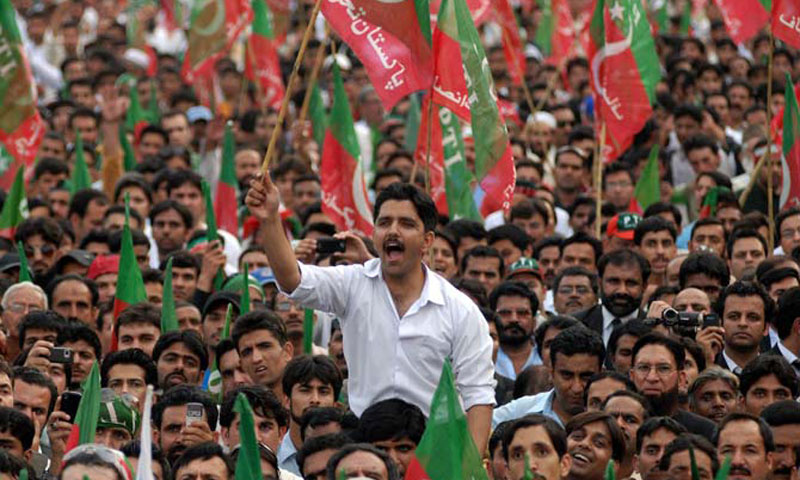 PTI supporters attend a party rally. – File Photo