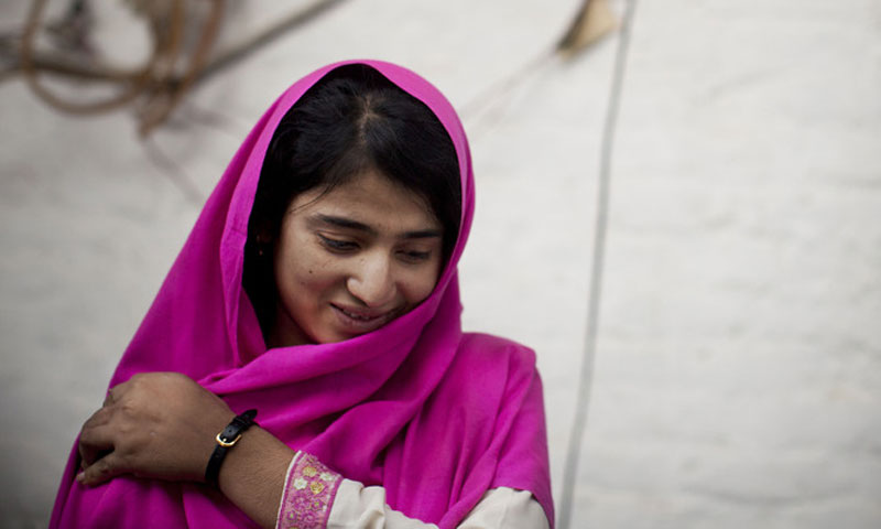 Shazia Ramazan is seen at her home in Mingora, Swat Valley, Pakistan. – AP Photo/File